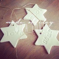 NIENNN's homemade koekjes van klei voor in de kerstboom of voor aan een kadootje.