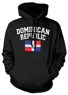Amazon.com: (Cybertela) Dominican Republic Flag Sweatshirt Hoodie Country Pride Hoody: Clothing