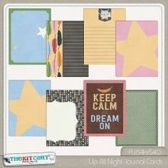Up All Night Sleepover Journal Cards