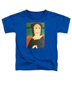 Patrick Francis Royal Blue Designer Toddler T-Shirt featuring the painting Mona Lisa 2014 - After Leonardo Da Vinci by Patrick Francis