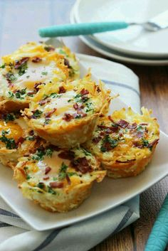 Hash brown egg house with avocado