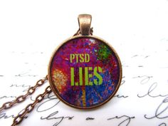 PTSD lies necklace, $11 on Etsy
