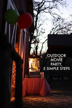 Outdoor Movie Party in 5 Simple Steps from mightygirl.com >> #WorldMarket Outdoor Movie Night