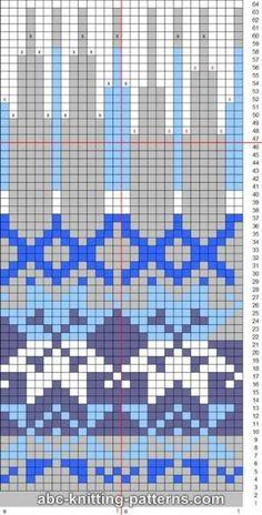 ABC Knitting Patterns - Fair Isle Earflap Hat. by celia