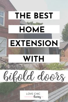 How to create the best home extension with bifold doors. Whether you're extending your kitchen, or extending onto a patio or onto decking, here are some ideas on how to choose the best bifold doors for your home. Home Decor Trends, Home Decor Inspiration, Building Extension, Moving Home, Design Your Dream House, Uk Homes, House Extensions, Autumn Home, Decking