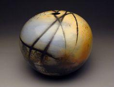 "Sphere, saggar fired porcelain, 11"" x 12"""