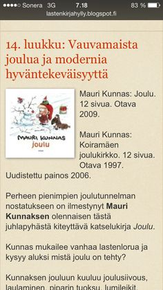 Mauri Kunnaksen joulu