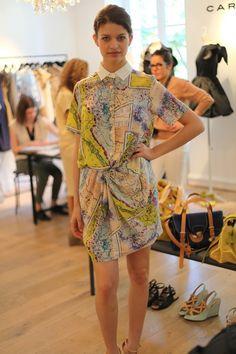 Carven map dress