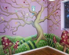 Fantasy Fairytale Murals in Nursery Kids Room