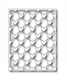 Poppystamps (Memory Box) Die - New Release - Heart Lattice Background in Crafts, Cardmaking & Scrapbooking, Die-Cutters   eBay