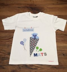 https://de.dawanda.com/product/103135255-t-shirt-schulkind-schultuete: Schulkind, T Shirt Oberteil Junge nähen, Geschenk Idee, Inspiration, verschenken, schenken, Schultüte, Einschulung, Mädchen, erster Schultag, nähen Nähmaschine