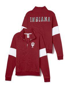 Indiana University Bling Half-Zip Pullover PINK