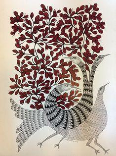 木と鳥 55㎝×75㎝ 紙