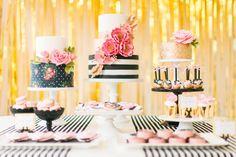 Modern Glam Kate Spade Birthday Party via Kara's Party Ideas | KarasPartyIdeas.com (13)