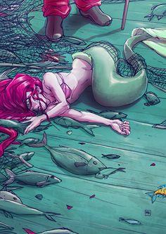 The Art Of Animation, Michal Dziekan ariel fished Art Disney, Disney Kunst, Mermaid Drawings, Mermaid Art, Ariel Mermaid, Fantasy Creatures, Mythical Creatures, Disney And Dreamworks, Disney Pixar