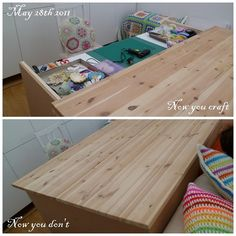 How awesome is this craft table!