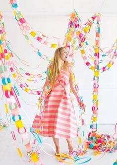🌈 Regenbogen Papier Girlande DIY, Paper Chain Garland #party #geburtstag #Geburtstagsdeko #dekoration #diy