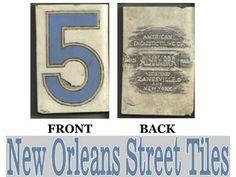 History of New Orleans Blue Letter Street Tiles «Fig Street Art Studio Blog, historical information on the street name tiles in New Orleans.