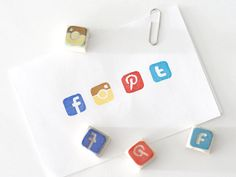 Social media stamps - how great are these! | Cool tech gifts for men and women under $25