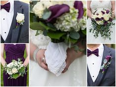 Something borrowed: handkerchief on the bridal bouquet. Iowa Wedding Photography | CTW Photography