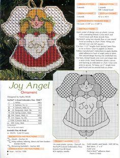 Joy Angel, plastic canvas