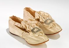 French silk toddler's shoes ... ca. 1880