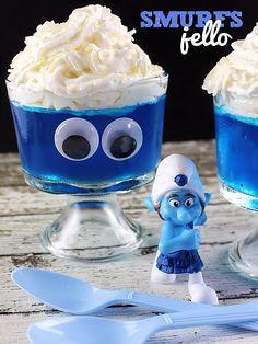 Smurfs Jello Kids Food Idea
