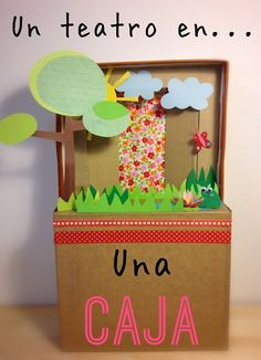 Tutorial DIY child theater in a box--- manualidades infantiles 1 terron Un teatro en una caja (por Terrón de Azucar)