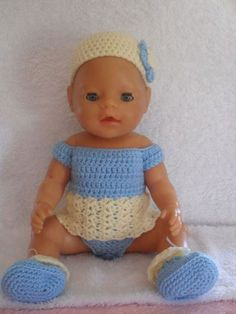 Crochet pattern for Baby Born doll by CreativeCrochetToys