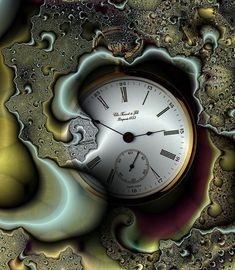 This would make an awesome tattoo -- fractal time As Time Goes By, No Time For Me, All About Time, Fractal Art, Fractals, Unusual Clocks, Time To Live, Father Time, Somewhere In Time