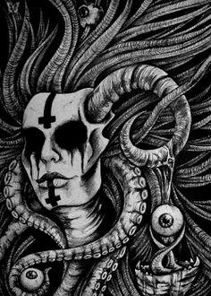 (2) Tumblr, Demon by Martyna Lejman