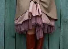 Tüll-Unterrock Petticoat altrosa