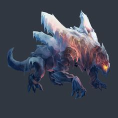 Ice/Lava Beast, Ron Broyde on ArtStation at https://www.artstation.com/artwork/Ak80X