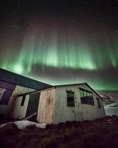 Auroras over a barn [Explored]
