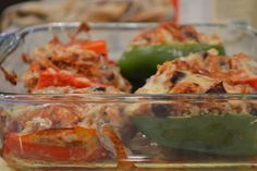 Chicken Enchilada Stuffed Peppers - peace. love. & good food.