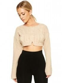 The Cable Knit Crop - Sweaters - Womens