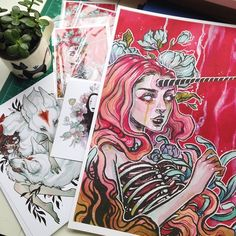 """Packaging orders and making prints today to ship out. I now have added """"Decay&quo... 