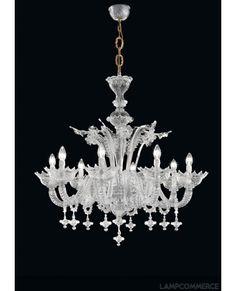 De Majo Tradizione 8099 chandelier in Ca' Rezzonico Murano style Lights & Lamps - LampCommerce