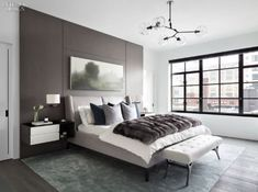 Step inside a selection of sleek and sophisticated bedroom inspirations straight from our archives. Small Room Bedroom, Modern Bedroom, Master Bedroom, Bedroom Decor, Bedroom Ideas, Bedroom Lighting, Bedroom Chandeliers, Bedroom Lamps, Wall Lamps