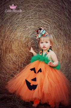 Ava modeling a pumpkin tutu dress from Tutulilly Cute Designs. Diy Halloween Costumes For Toddler Girls, Toddler Pumpkin Costume, Toddler Costumes, Halloween Kostüm, Holiday Costumes, Baby Witch Costume, Tutu Costumes, Costume Ideas, Pumpkin Tutu