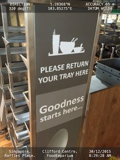 -Please return ur tray here- - Food court   Food-And-Drinks Food-Court Singapore Trays