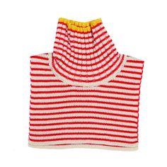 Fub neck Warmer Ecru/Red