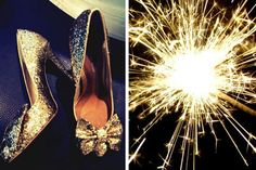 Sparkler and glitter shoes