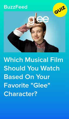 """Which Musical Film Should You Watch Based On Your Favorite """"Glee"""" Character? Glee Quizzes, Quizzes For Fun, Mark Salling, Glee Fashion, Finn Hudson, Musical Film, Trivia Quiz, Chris Colfer, Personality Quizzes"""