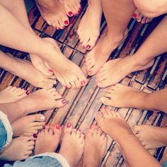 lots of bare feet...