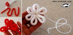 цвете от плетен шнур