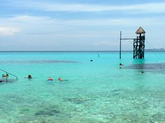 Snorkeling and ziplining are two of the fun family activities at El Garrafon Natural Reef Park on the island of Isla Mujeres in Cancun