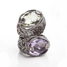 Brigitte Adolph - Silver Amethyst & Citrine Rings -ORRO Contemporary Jewellery Glasgow - www.orro.co.uk