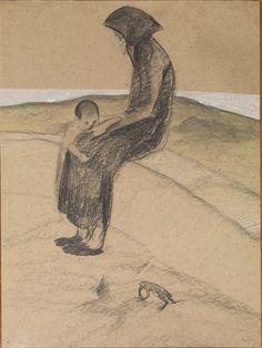 Lorenzo Viani (Italian, 1882–1936) Title: Madre e Figlio Medium: gesso, tempera, pastel on card Size: 842 x 630 cm. (331.5 x 248 in.)View past auction results for LorenzoViani on artnet