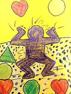 Keith Haring Lesson for Kindergarten and 1st grade.  Super cute!  Love how they talk about rhythm lines.